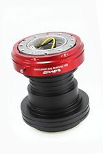 VMS RACING 92-95 HONDA CIVIC STEERING WHEEL HUB RED QUICK RELEASE COMBO BLACK
