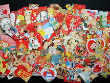 Vintage Lot of 120 Valentines Day Greeting Cards 1920s - 1960s Some Unused