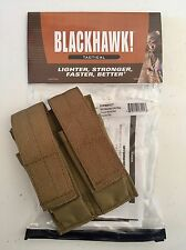 Blackhawk Belt Mounted Double Magazine Pouch, Coyote Tan, NEW