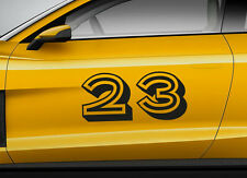 RACE NUMBERS retro 13. Custom car vinyl door sticker. Track trails transfer.