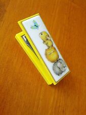 RARE Vintage Hallmark Stapler~Cute graphics~Yellow with Gold decorative edge