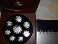 2006 Fine Silver Proof Year Set With Unique Silver 1 and 2 cents.& ROUND 50 Cent