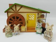 Sylvanian Families Water Mill Bakery With Baker And 3 Additional Figures Bundle