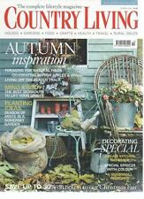 COUNTRY LIVING MAGAZINE October 2009 Autumn Inspiration AL