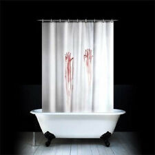 Waterproof Blood Bath Shower Curtain by Spinning Hat Scary Psycho Horror + Hooks