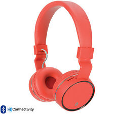 PRO Red Wireless/Bluetooth Fold Away Headphones –Microphone FM/SD Gaming Gift