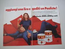 advertising Pubblicità 1972 CAFE' CAFFE' PAULISTA