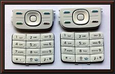 Keypad keyboard for Nokia 5200 -- White, 2 pieces set
