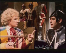 Doctor Who photo signed by Colin Baker & Michael Jayston - B2