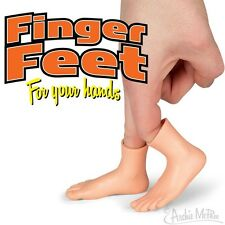 "Pair of Finger Feet soft vinyl finger puppet 2"" Tall - Novelty Fun Gag Gifts"