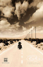 Route 66 Motorcycle Art Print Poster Poster Print, 24x36