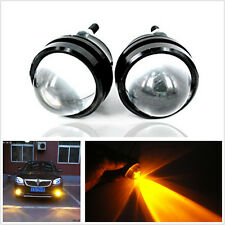 2X 6000K Amber Highlight fog lights reverse lamp Bull Eye LED Projector Light
