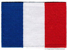 FRENCH FLAG embroidered iron-on PATCH FRANCE EMBLEM new APPLIQUE PARIS SOUVENIR