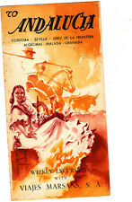 To Andalucia Spain Weekly Excursions Viajes Marsans Cordoba Vintage Brochure