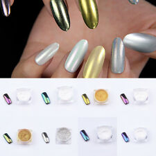 1x Silver Boxed Shiny Smooth Mirror Powder Nail DIY Manicure Glitters Pigment 3g
