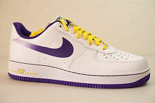 MENS NIKE AIR FORCE 1 SHOES SIZE 9 white purple yellow 488298 143