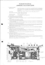 Körting Neckermann Service Manual per Amburgo 821/47 27531