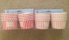 Robert Gordon Ice Cream Cups Bowls New 2 Boxes Of 10 Red Pink Party