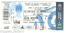 Billet / Place Olympique de Marseille - OM vs le Havre - 2009 ( 038 )