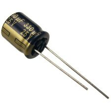 4 Elko Panasonic FC 330uF 25V 105°C Low impedance Kondensator radial 854470