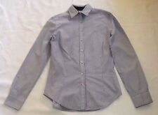 "ZARA BASIC SIZE 5 BLUE & WHITE STRIPED COTTON SHIRT BLOUSE  CHEST 34"" 86cm"