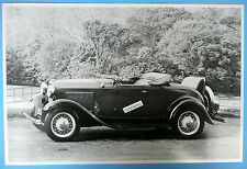 "12 By 18"" Black & White Picture 1932 Ford Roadster Side View Top Down"