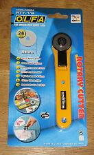 OLFA 28mm Rotary Cutter RTY-1/G Sewing Quilt cuts Fabric Leather Paper - *NEW*