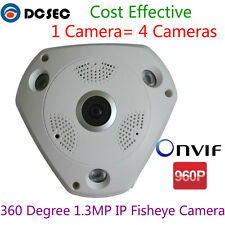 360 Degree 1.3MP IP Camera 960P Panoramic Fisheye IP Cam POE All View Security
