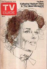 1973 TV Guide December 15 Katherine Hepburn; Darren McGavin; Barbara Feldon