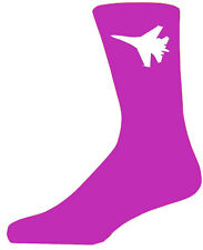 High Quality Hot Pink Socks With a White Fighter Plane, Lovely Birthday Gift