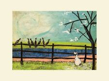 Sam Toft  -  Doris And The Birdies - 30X40CM - Mounted Print