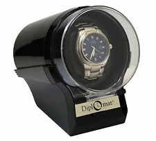 Diplomat Watch Winder Diplomat Case Box Storage Timer  Automatic Black glossy