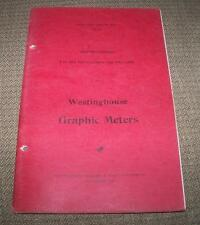 1910 INSTRUCTIONS FOR THE USE & CARE OF WESTINGHOUSE GRAPHIC METERS BOOK 5096