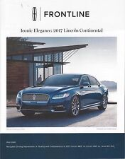 Lincoln Frontline Dealer Magazine Jan/Feb 2016 2017 Continental Introduction New