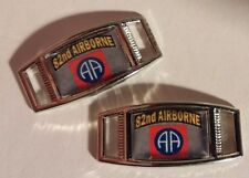 Set of 2 U.S. Army 82nd Airborne WINGS Shoelace Charms For Paracord Projects NEW