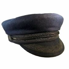 Guy cotten breton navy wool cap-taille 58cm, uk: 7 1/8, us: 7 1/4