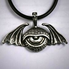 All seeing Eye Illuminati Evil Creature Winged Monster Dragon Eye Pewter Pendant