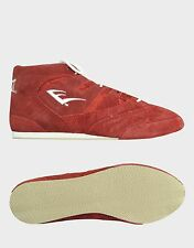 NEW Men's Everlast Low-Top Suede Boxing Shoes Size: 7.5 Color: Red
