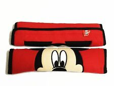 Mickey Mouse Car Accessory #E : 2 pieces Seat Belt Sholder Pads Covers