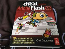 HOW TO cheat in Adobe Flash CS3 by Chris Georgenes (book & CD)