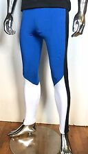 AQUX MEN Blue Running Pants Leggings GLADIATOR Jock Muscle Size M