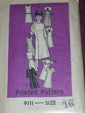 VTG. MARION MARTIN #9111 - LADIES DAY or EVENING ( 9 STYLE ) DRESS PATTERN 16 FF