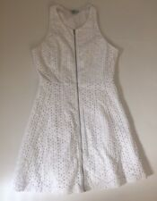 Bebe dress white eyelet fit and flare size 6