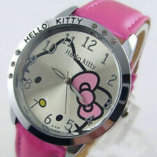 PINK hellokitty Girls Ladies Wrist Quartz Watch Kid kitty Best Gift watches