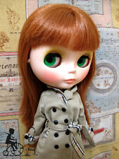 C.C.T Blythe Pullip Dal doll outfit Trench Coat (Khaki) c-467
