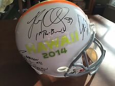 2014 NFL Pro Bowl FS helmet signed Carolina Panthers Cam Newton Luke Kuechly