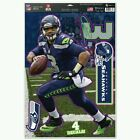 Russell Wilson Seattle Seahawks Multi-Use Decal 11 x 17 fathead NEW 4 decals!