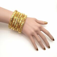 Indian Bangles Size:2.8 22k Gold Plated Asian Bridal Jewellery Party Ethnic Wear