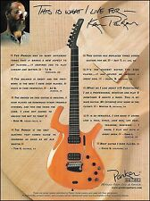 Mr. Ken Parker electric guitar 2000 ad 8 x 11 advertisement print ready to frame