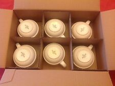 (6) VILLEROY & BOCH LUXEMBOURG WHITE CAPPUCCINO/COFFEE CUPS. 8 OZ CASE OF 6